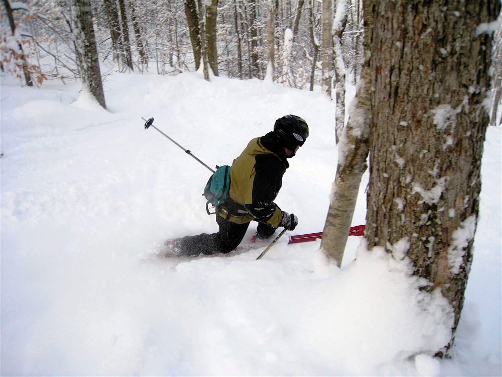 first season tree skiing