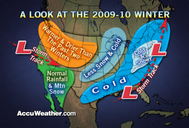 Joe Bastardi's Long Range Winter Forecast 2009-2010