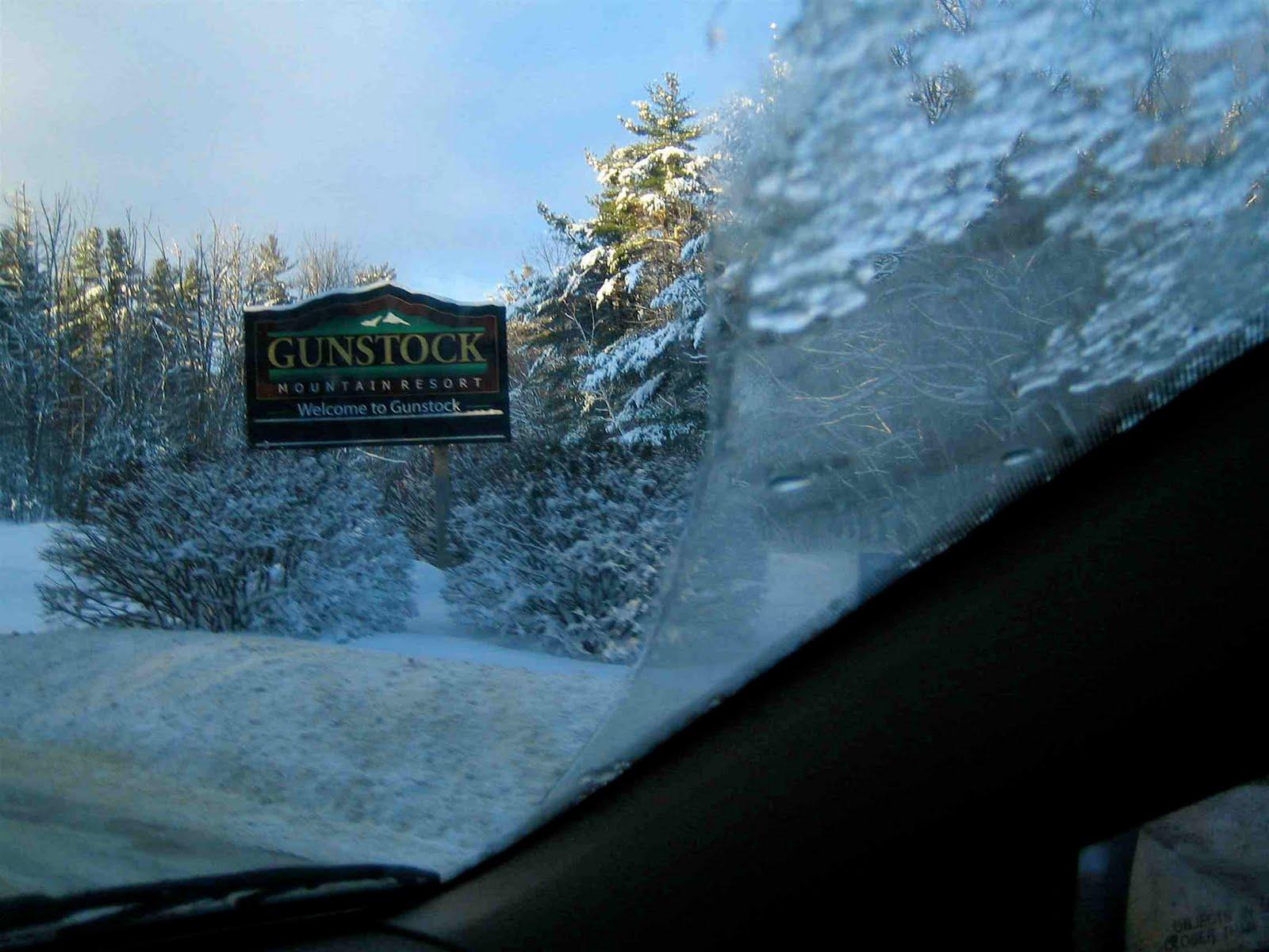 Entrance to Gunstock resort.