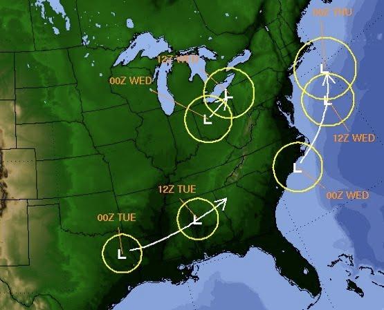 February 8 2010 Storm Track