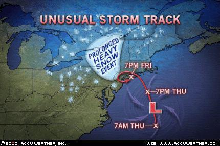 Snowmageddon Storm Track
