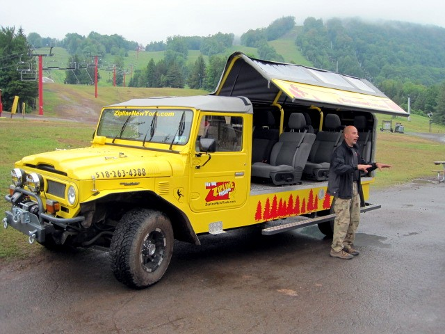hunter mountain zip line truck