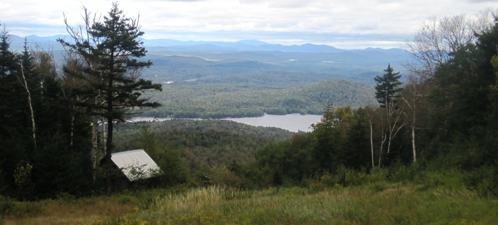 View of Simon Pond from Top of Trail 1