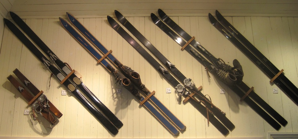 Old wooden skis at the North Creek Depot Museum