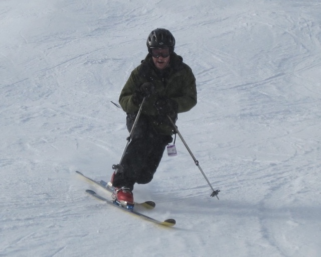 Skiing with the Omni-Heat Parka.