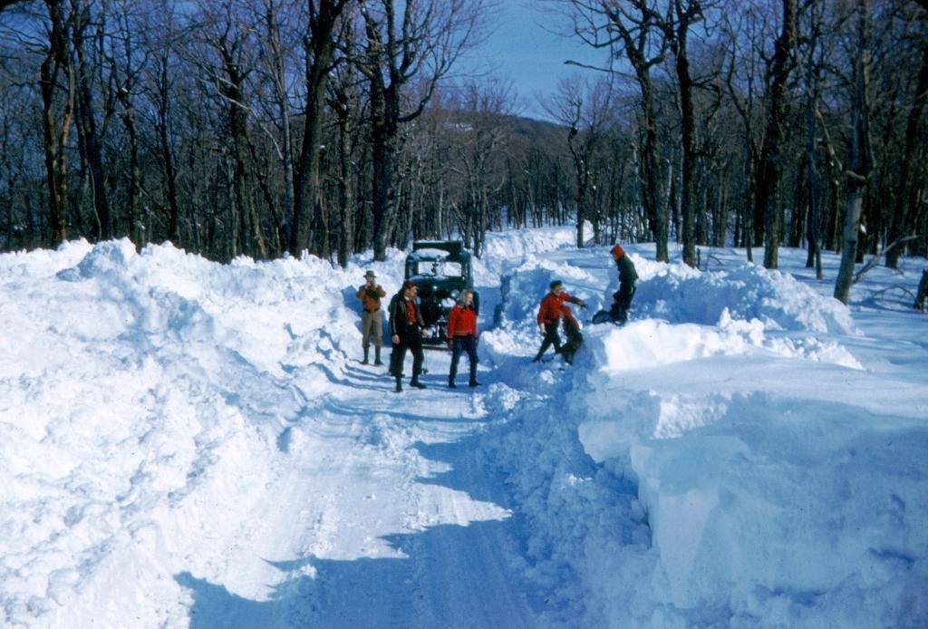 road along summit ridge