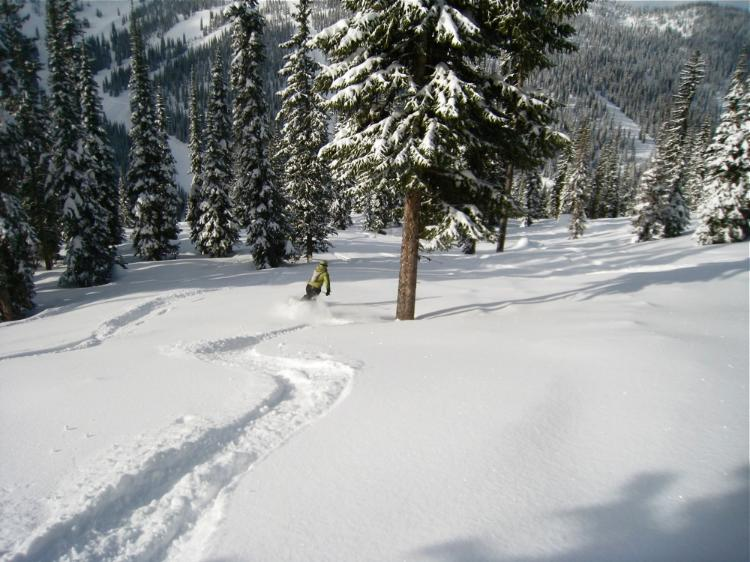 Whitewater BC powder