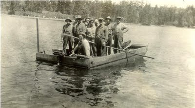 Building the Indian Lake Dam NY.