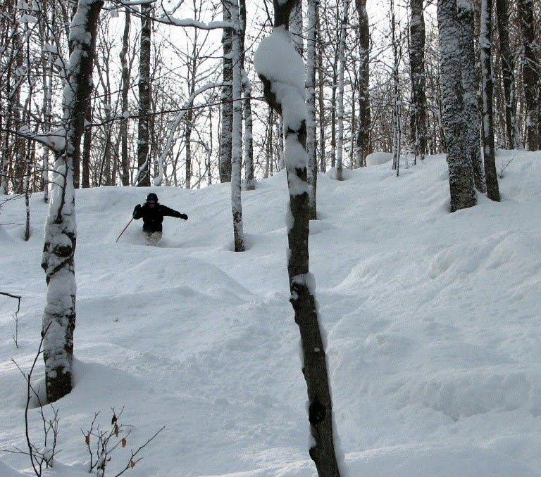 Early season skiing in the Tug Hill backcountry.