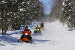 snowmobiling in Catskill Park