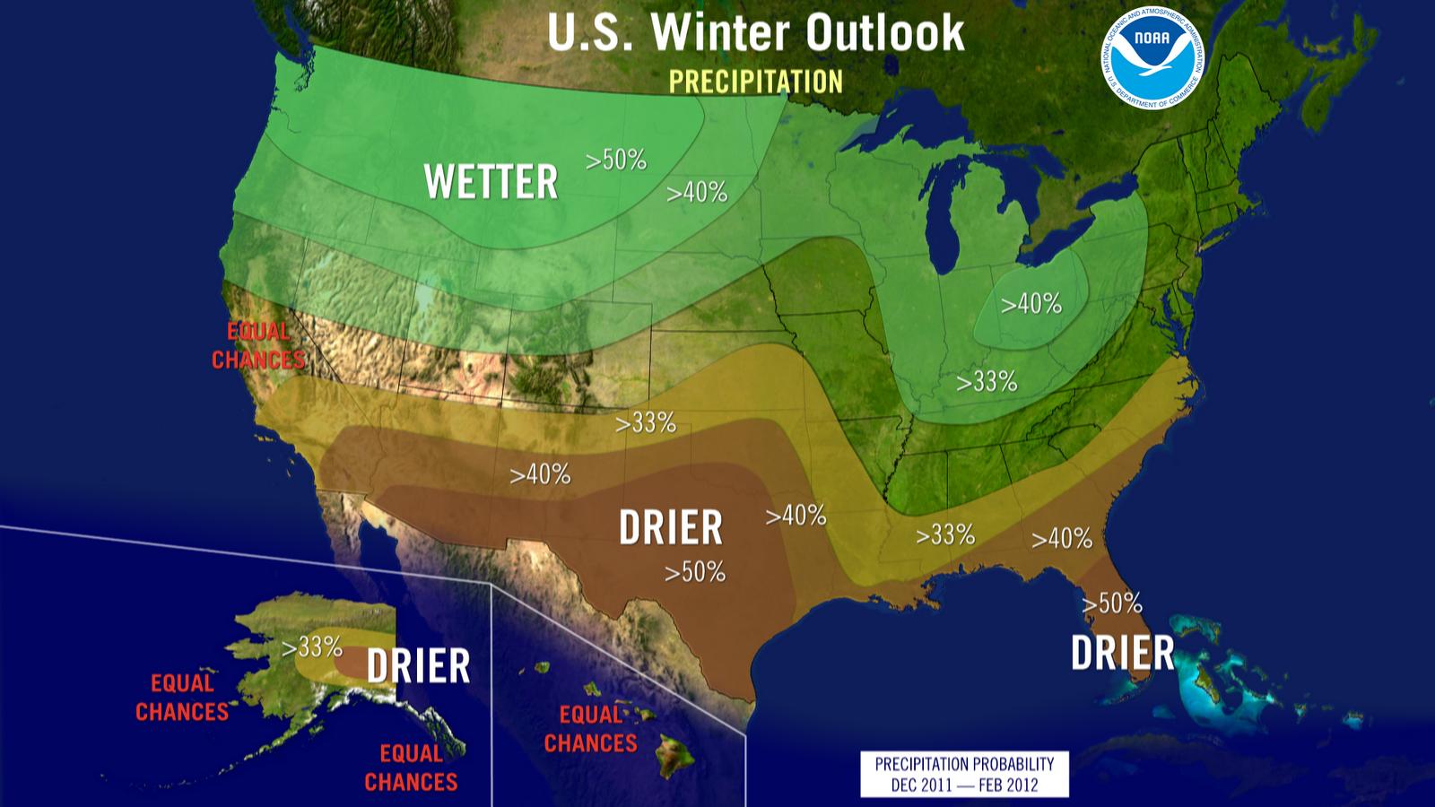 NWS NOAA Winter Precipitation Outlook.
