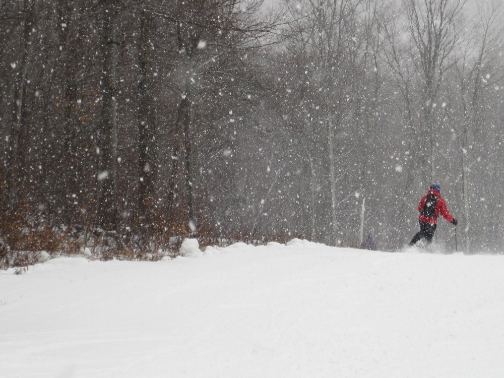 Skiing on opening day at Gore.