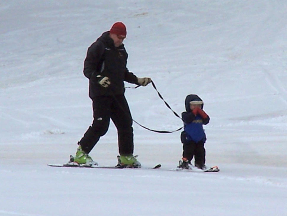 skiing with a three year old