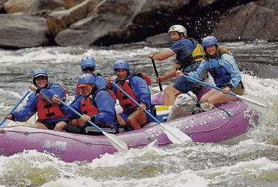 Governor Paterson rafting.
