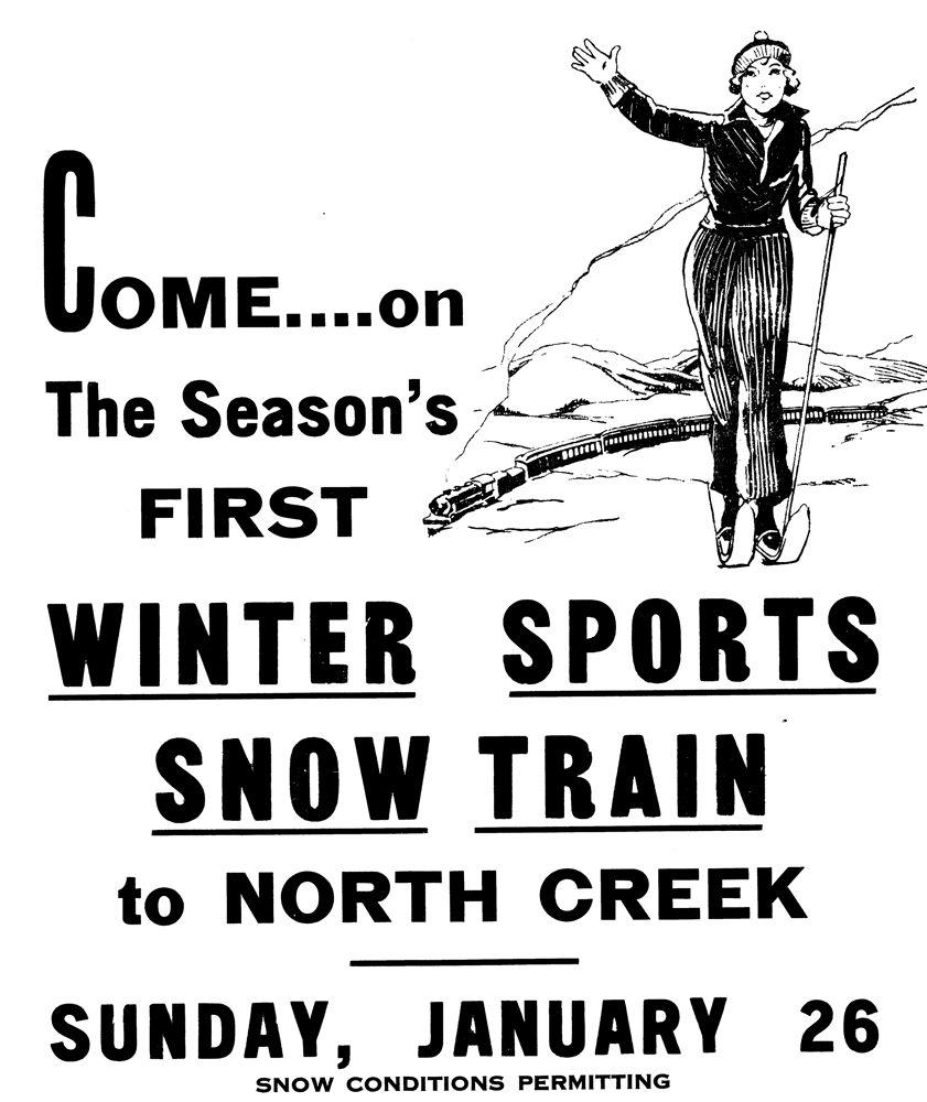 ski train poster