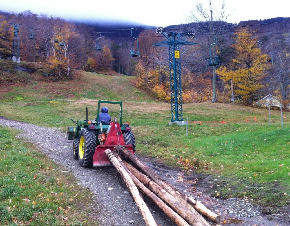 Building the Mad River Glen Terrain Park.