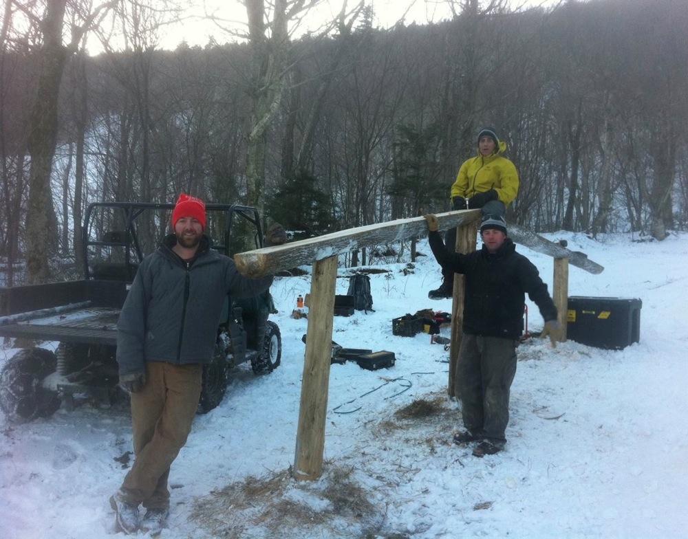 Terrain Park construction crew.
