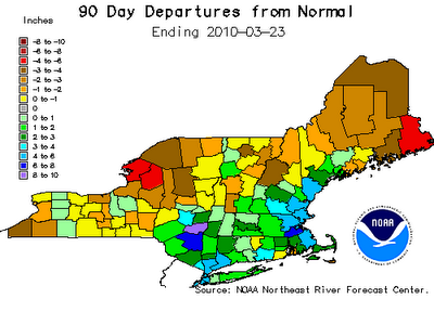Winter 2009-2010 Departure from Normal Precipitation