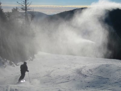 Early Season Snowmaking at Gore Mountain.