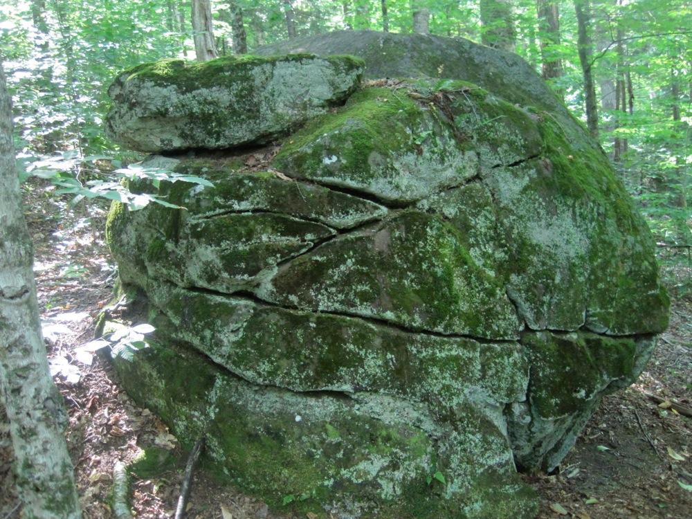 fun rock on the trail