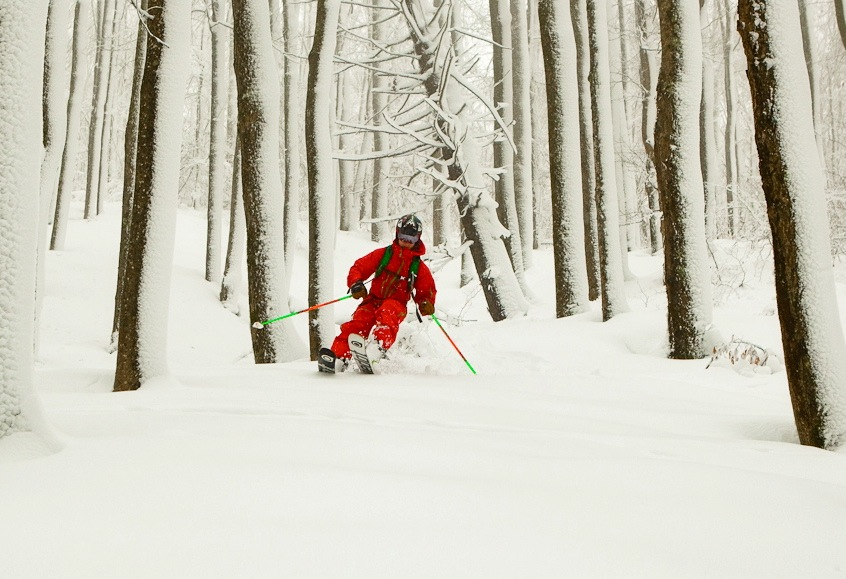 Skiing Hurricane Sandy in West Virginia