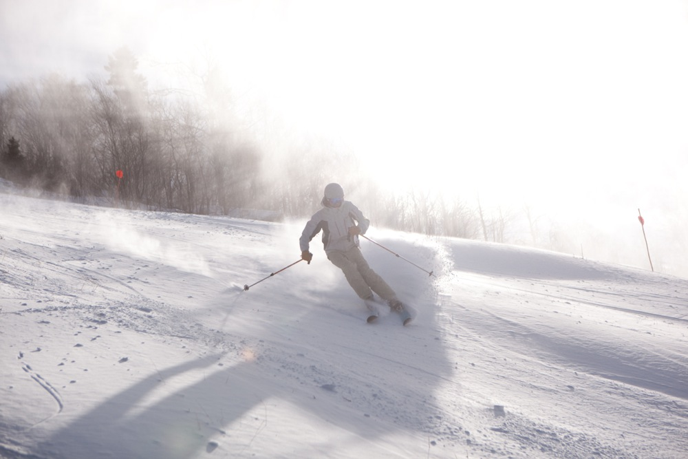 Incredible Piles of Hunter Mountain Snowmaking.
