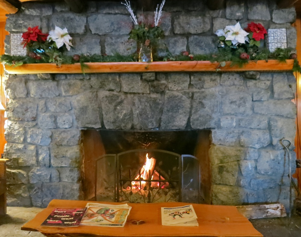 Garnet Hill Lodge fireplace