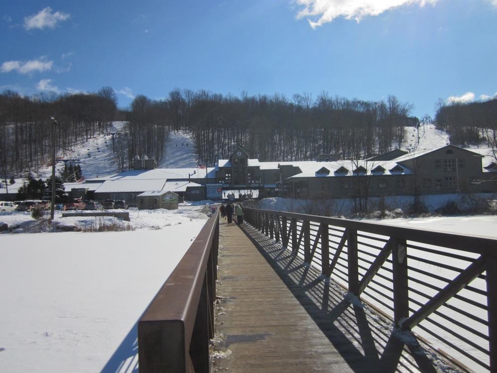 Bridge over the pond at Shawnee Mtn PA.