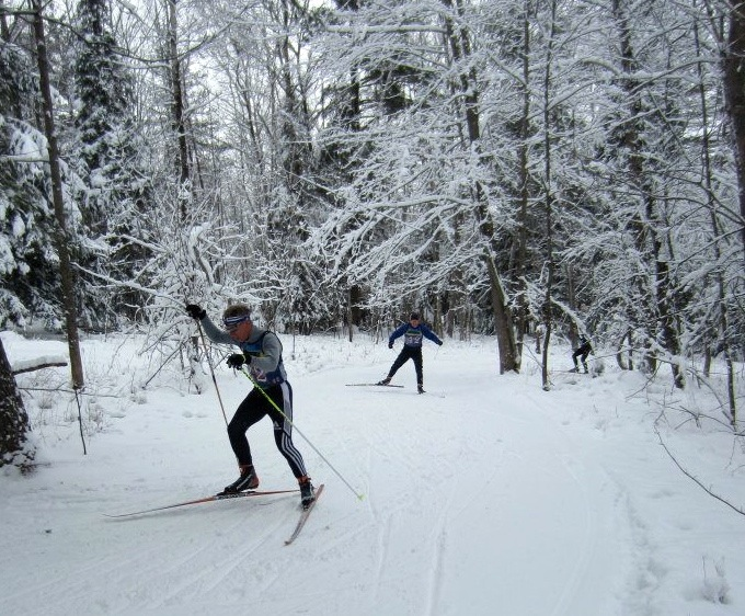 Nordic Ski Racers at Dewey Mountain