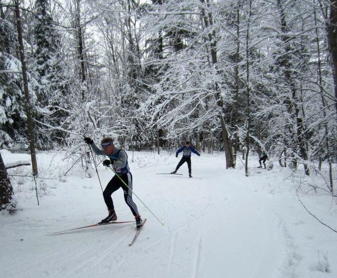 Nordic Ski Racers at Dewey Mountain