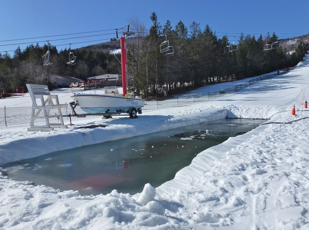 Frozen Pond Skimming pond