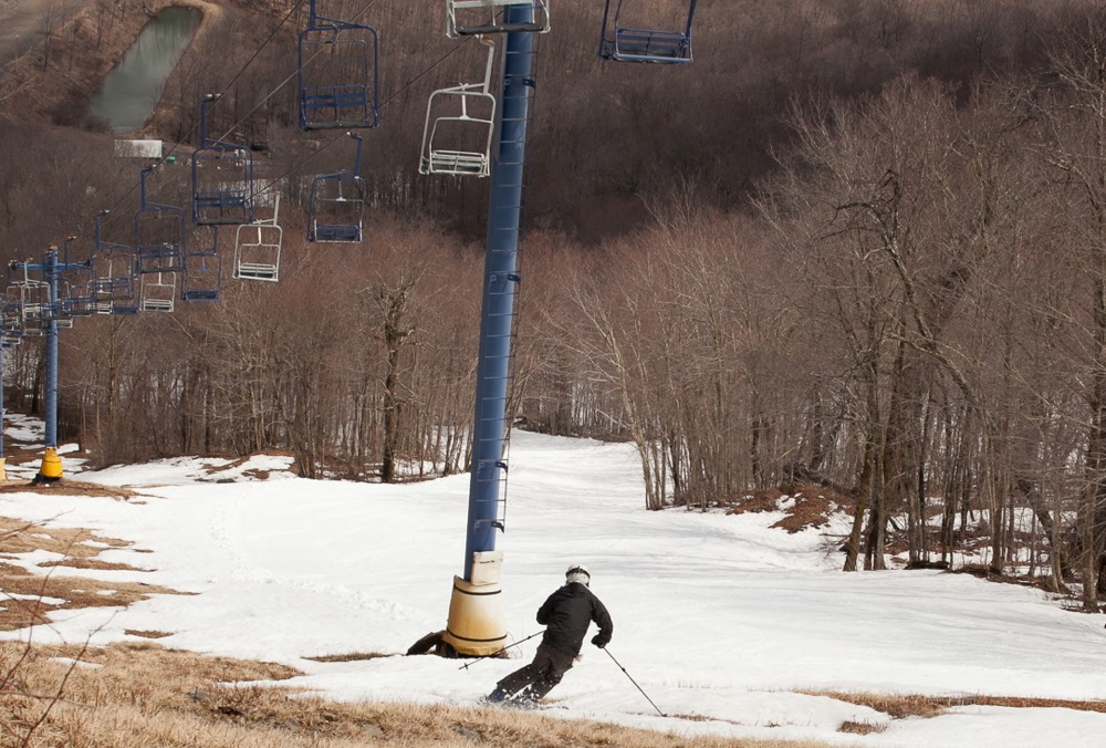 End of the ski season at Plattekill