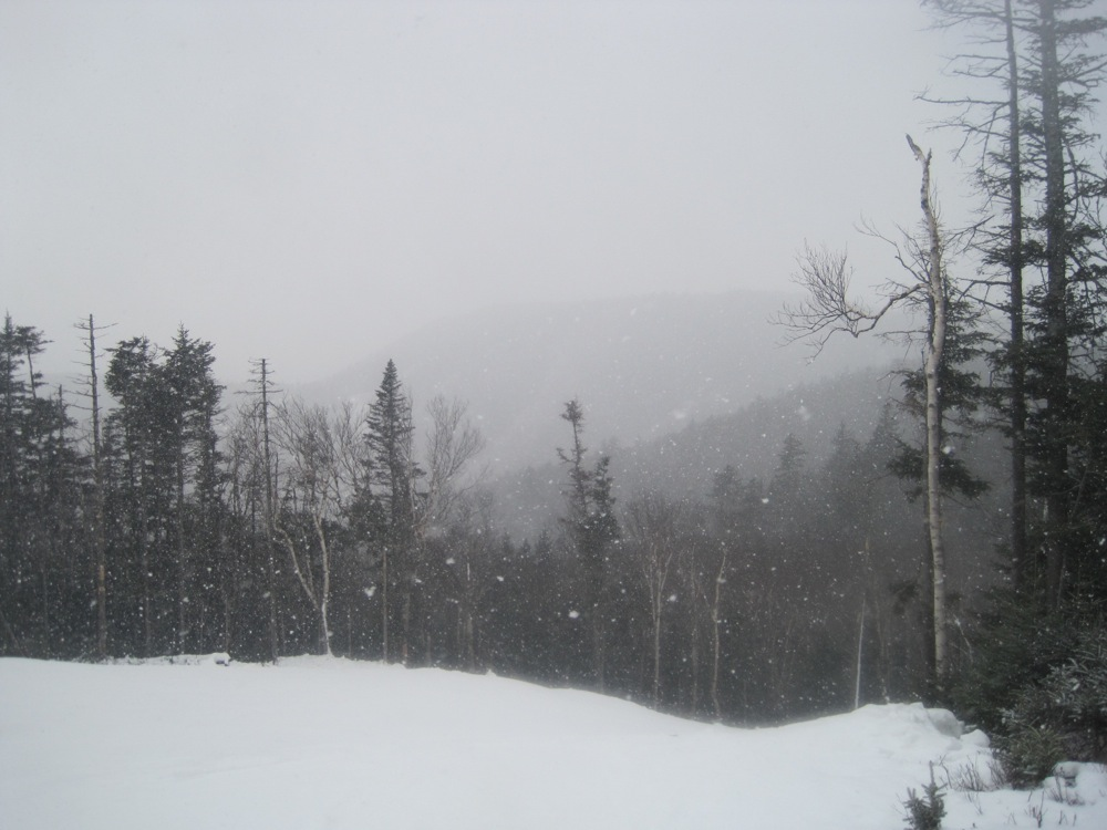 Early season snow squall