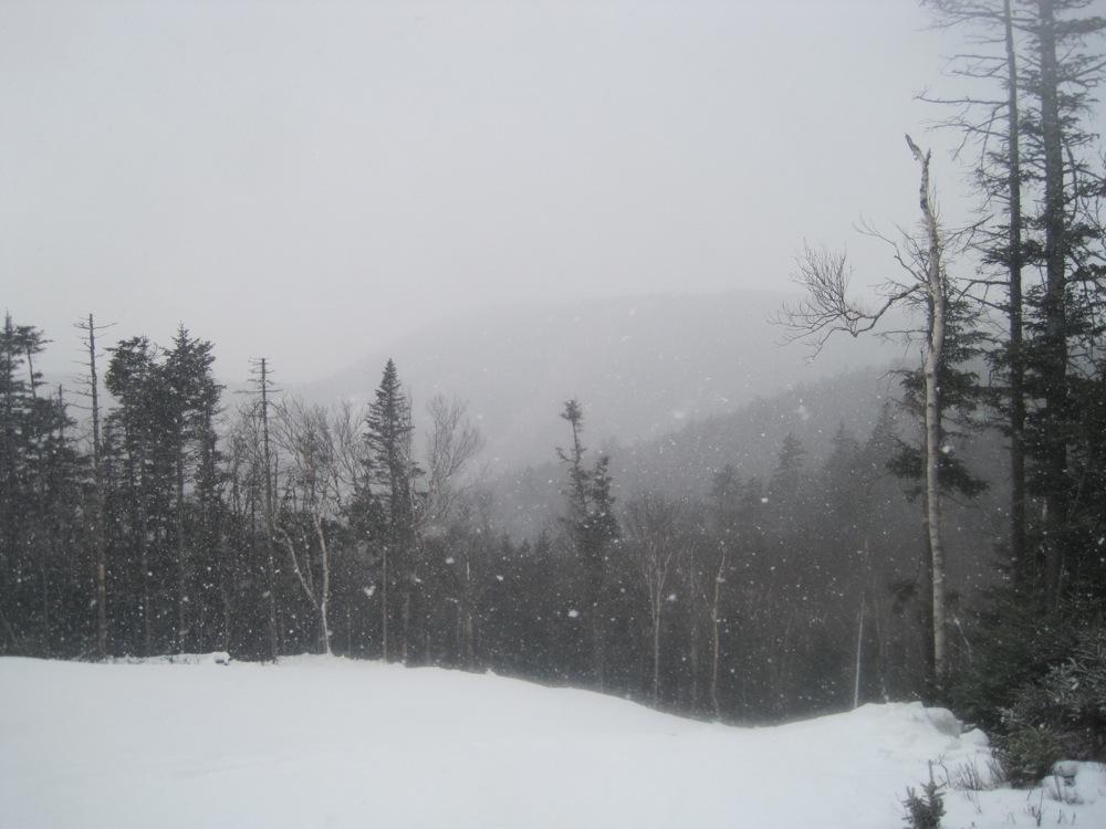 Early season snow squall