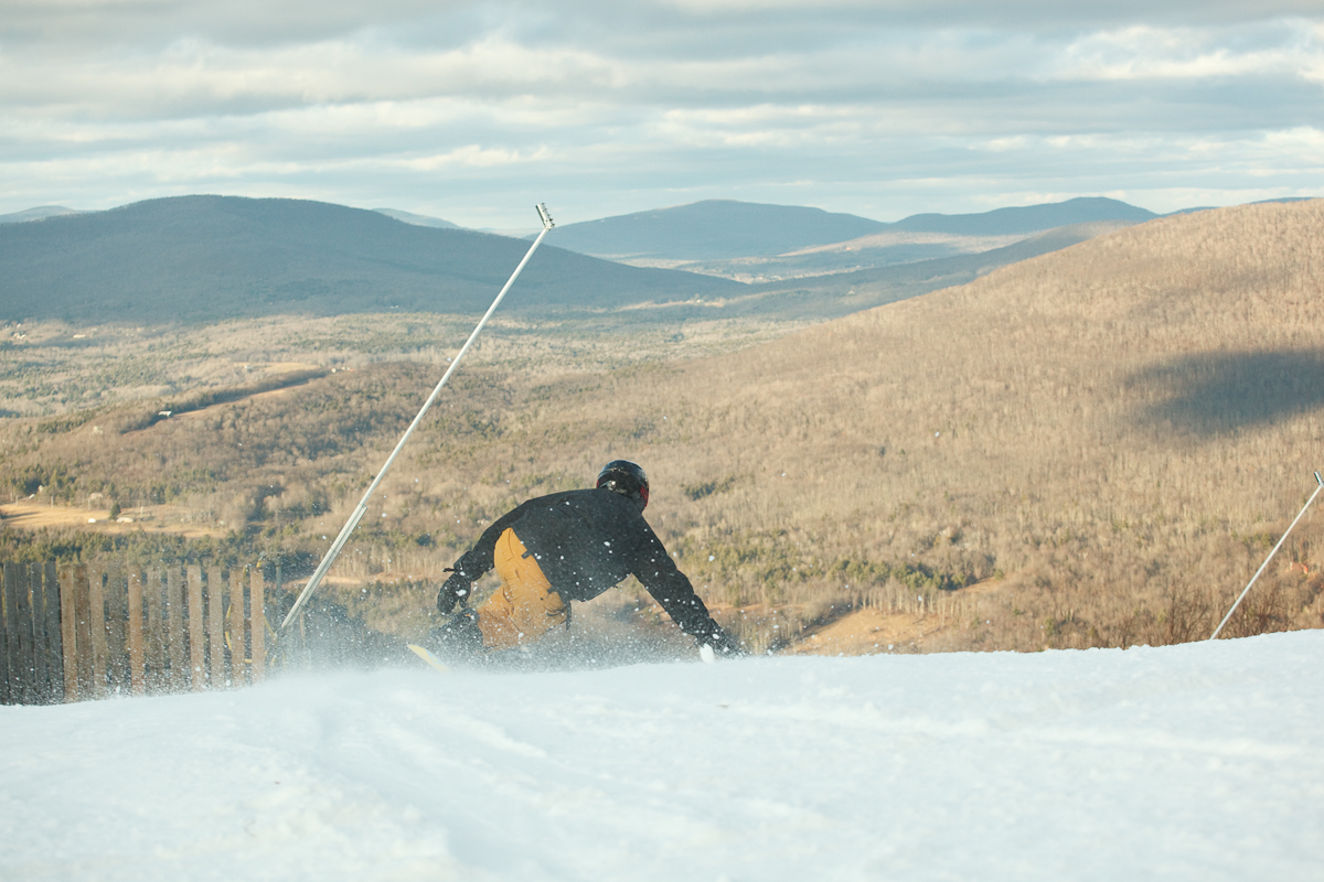 Spring skiing at Hunter in December.