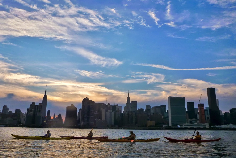 Kayaking the East River NY