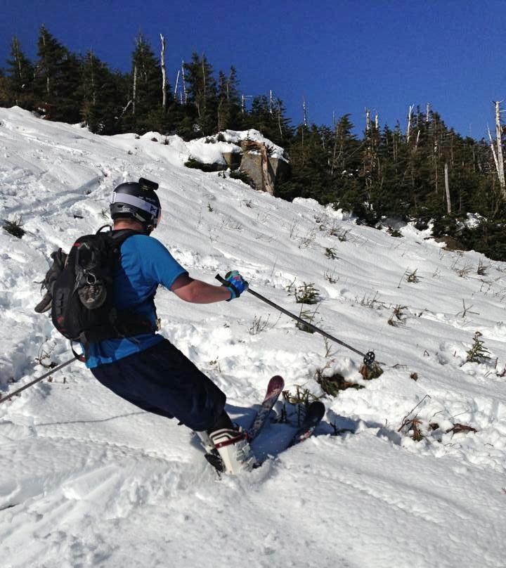 Hardcore-Skiing