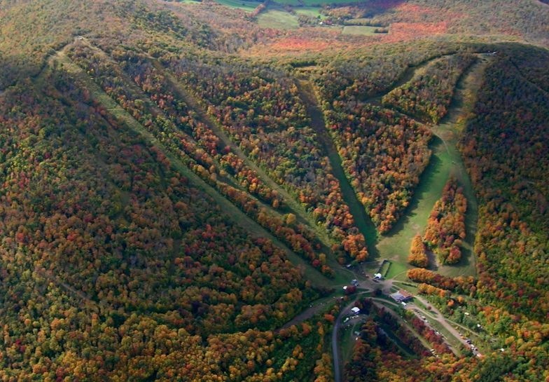 Plattekill fall aerial photo