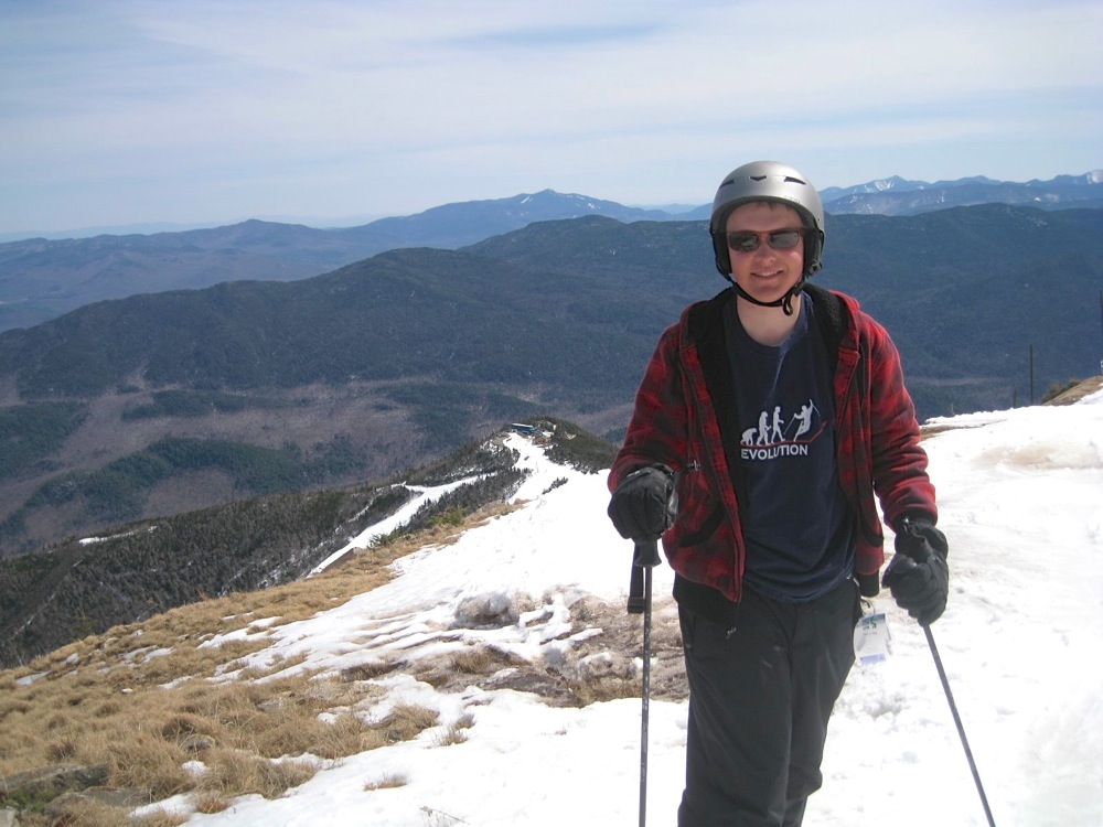 On top of Whiteface on Easter