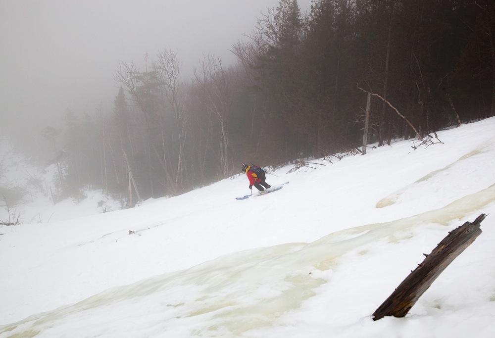 Skiing the Wright Peak Slides
