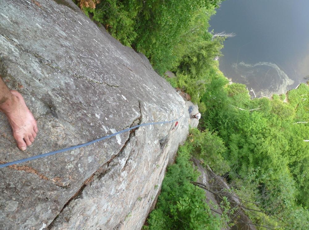 Climbing Chapel Pond Pass: Tillman's Arete
