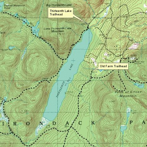 Thirteenth Lake Map