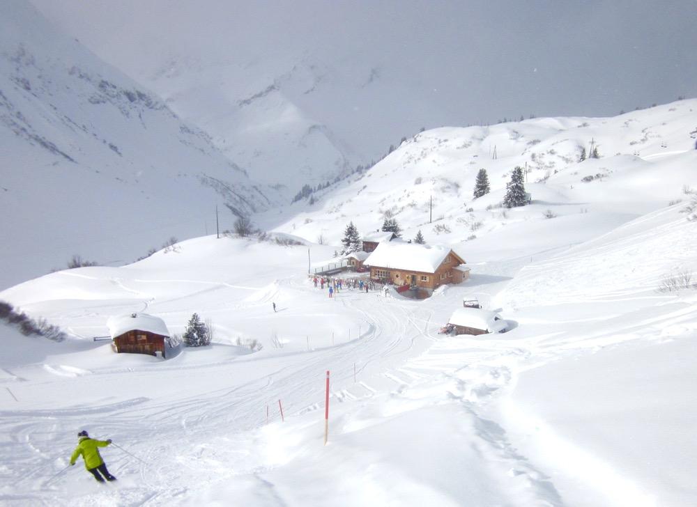 mid-mountain hut