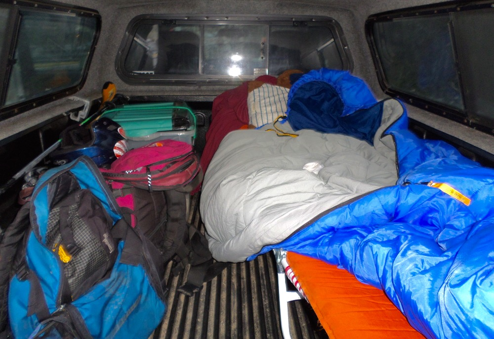 sleeping in the truck