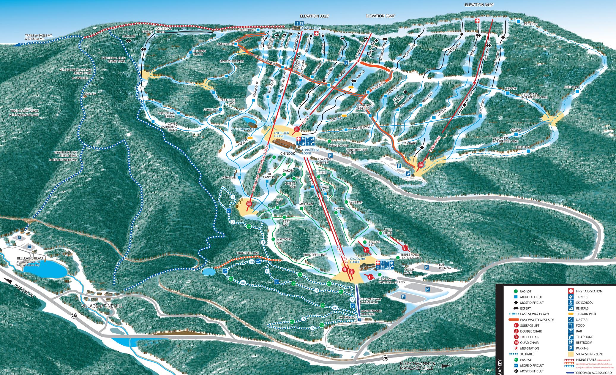 Belleayre trail map