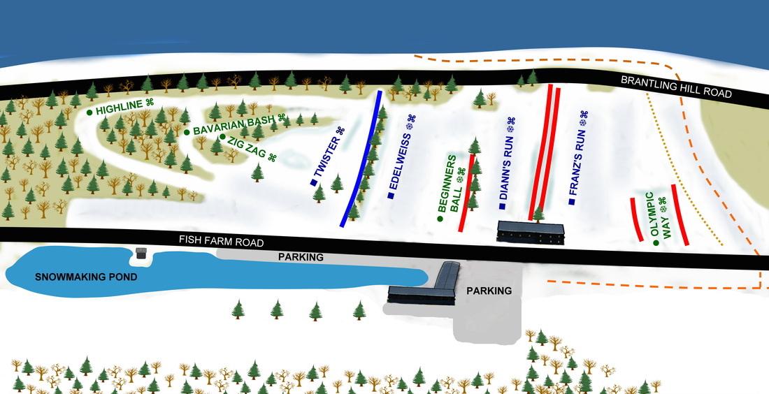 Brantling Ski Center trail map