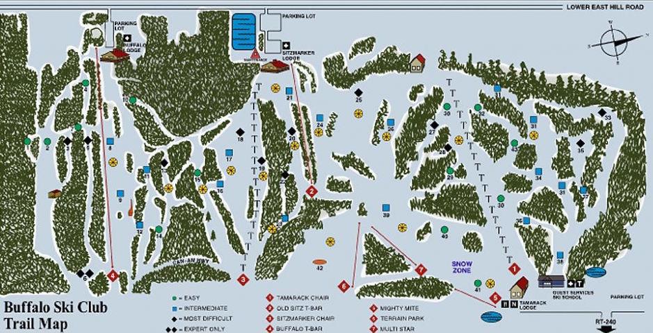 Buffalo Ski Club trail map