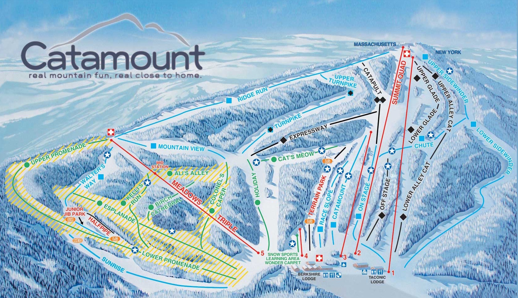 Catamount Ski Area trail map