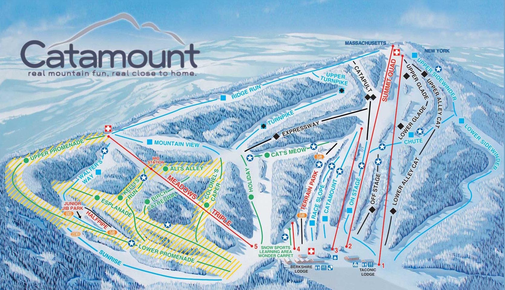 catamount-ski-trail-map