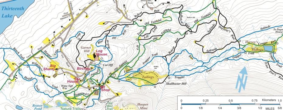 Garnet Hill Lodge trail map inset